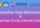 Himbauan Untuk Perbaikan Data PDDIKTI Untuk Mendapatkan Bantuan Kuota Internet Gratis